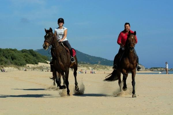 Equitazione in spiaggia in Sardegna