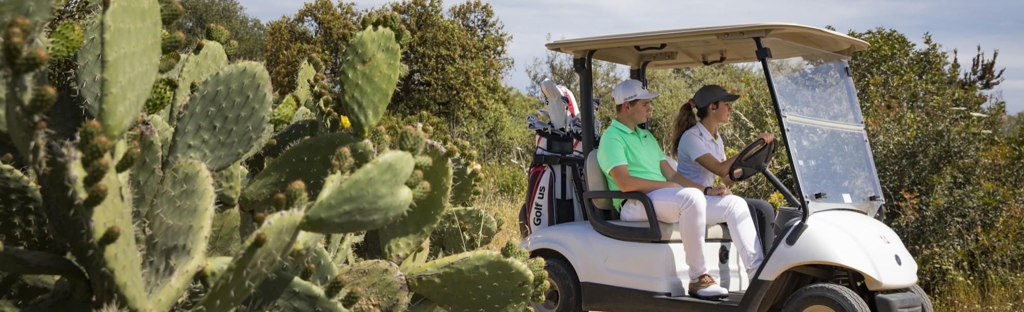 Golf cart a Is Molas Resort