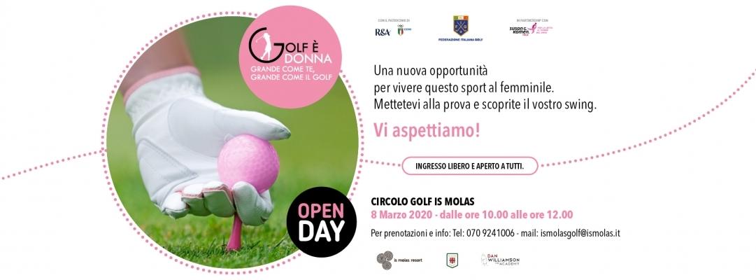 Locandina Is Molas Open Day Golf Donna